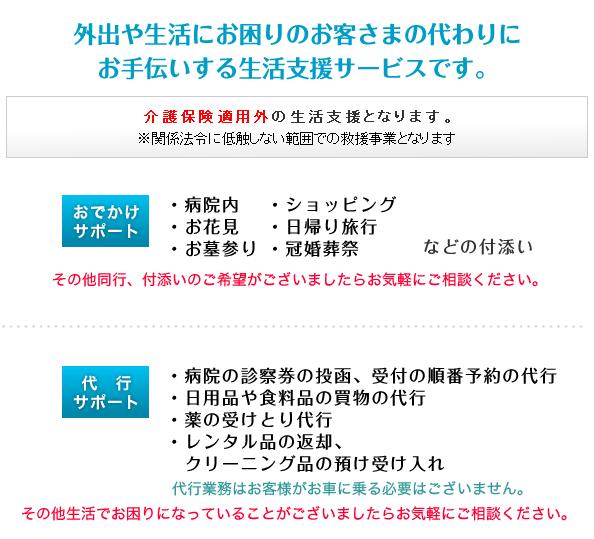 福岡市ハッピー介護タクシーのおでかけサポート